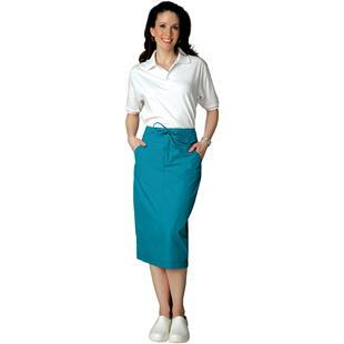 Adar Womens Mid-Calf Length Drawstring Skirt