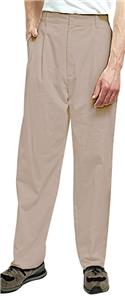 Adar Mens Twill Pleated Pants with Waistband
