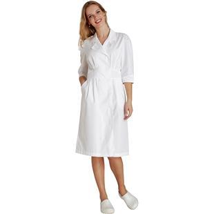 Adar Womens Tuck Pleat Midriff Uniform Dress