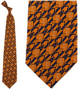 Eagles Wings NCAA Illinois Tie Nexus