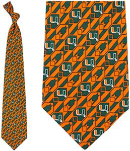 Eagles Wings NCAA Miami Hurricanes Tie Nexus