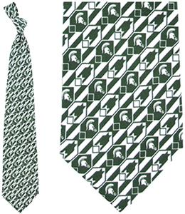 Eagles Wings NCAA Michigan State Spartan Tie Nexus