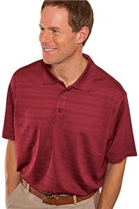 Hartwell 910 Burke Men's Textured Stripe Polo