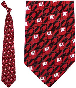 Eagles Wings NCAA Wisconsin Badgers Tie Nexus