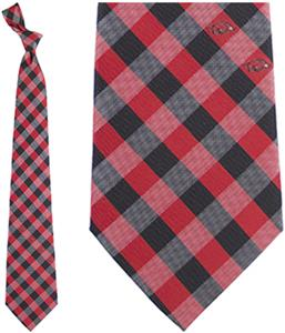 Eagles Wings NCAA Arkansas Woven Poly Check Tie