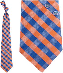 Eagles Wings NCAA Florida  Woven Poly Check Tie