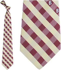 Eagles Wings NCAA Florida St Woven Poly Check Tie