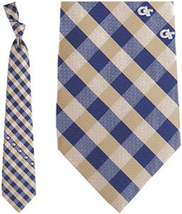 Eagles Wing NCAA Georgia Tech Woven Poly Check Tie