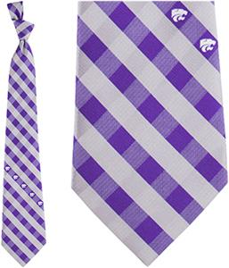 Eagles Wings NCAA Kansas St Woven Poly Check Tie