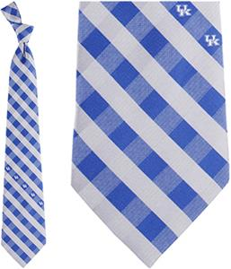 Eagles Wings NCAA Kentucky Woven Poly Check Tie