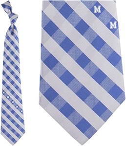 Eagles Wings NCAA Memphis Woven Poly Check Tie