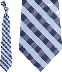 Eagles Wings NCAA N. Carolina Woven Poly Check Tie