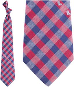 Eagles Wings NCAA Mississippi Woven Poly Check Tie
