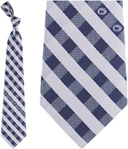 Eagles Wings NCAA Penn State Woven Poly Check Tie