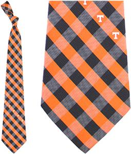 Eagles Wings NCAA Tennessee Woven Poly Check Tie