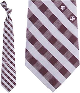Eagles Wings NCAA Texas A&M Woven Poly Check Tie