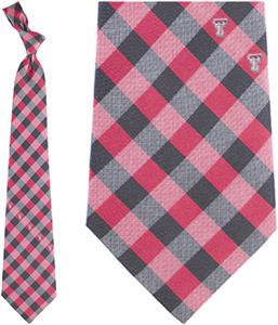 Eagles Wings NCAA Texas Tech Woven Poly Check Tie