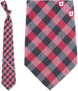 Eagles Wings NCAA Utah Utes Woven Poly Check Tie