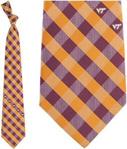 Eagles Wings NCAA Virginia Tech Woven Check Tie