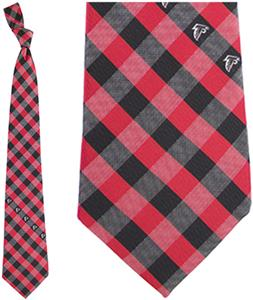 Eagles Wings NFL Falcons Woven Poly Check Tie