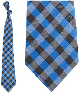 Eagles Wings NFL Panthers Woven Poly Check Tie