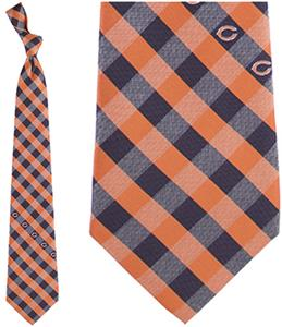 Eagles Wings NFL Bears Woven Poly Check Tie