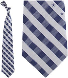 Eagles Wings NFL Cowboys Woven Poly Check Tie
