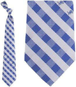 Eagles Wings NFL Lions Woven Poly Check Tie