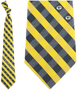 Eagles Wings NFL Packers Woven Poly Check Tie