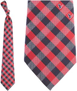 Eagles Wings NFL Texans Woven Poly Check Tie