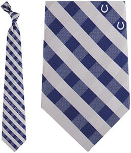 Eagles Wings NFL Colts Woven Poly Check Tie