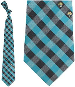 Eagles Wings NFL Jaguars Woven Poly Check Tie