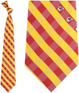 Eagles Wings NFL Chiefs Woven Poly Check Tie