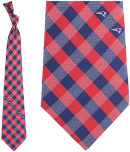 Eagles Wings NFL Patriots Woven Poly Check Tie
