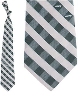 Eagles Wings NFL Jets Woven Poly Check Tie