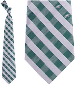Eagles Wings NFL Eagles Woven Poly Check Tie
