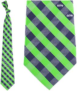 Eagles Wings NFL Seahawks Woven Poly Check Tie