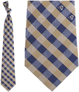 Eagles Wings NFL Rams Woven Poly Check Tie