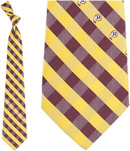 Eagles Wings NFL Redskins Woven Poly Check Tie