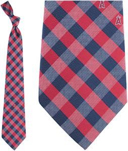 Eagles Wings MLB LA Angels Woven Poly Check Tie