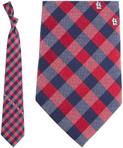 Eagles Wings MLB Cardinals Woven Poly Check Tie