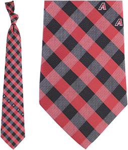 Eagles Wings MLB Diamondbacks Woven Poly Check Tie