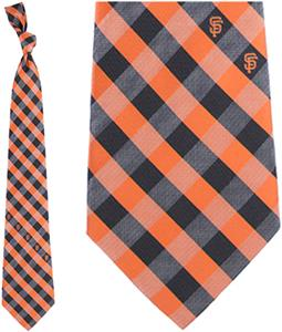 Eagles Wings MLB Giants Woven Poly Check Tie