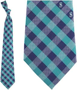 Eagles Wings MLB Mariners Woven Poly Check Tie