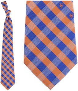 Eagles Wings MLB Mets Woven Poly Check Tie