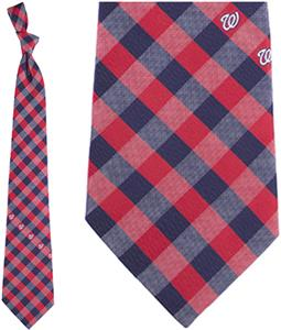 Eagles Wings MLB Nationals Woven Poly Check Tie