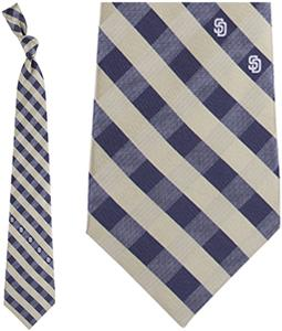 Eagles Wings MLB Padres Woven Poly Check Tie