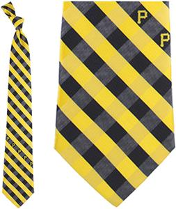 Eagles Wings MLB Pirates Woven Poly Check Tie