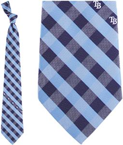 Eagles Wings MLB Rays Woven Poly Check Tie