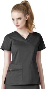 WonderWink Two Stretch V-Neck Sport Scrub Top
